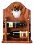 Tibetan Spaniel Wine Rack -Red