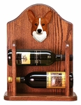 Welsh Corgi (pembroke) Wine Rack-Red