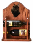Schnauzer (standard) Wine Rack-Black