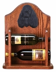 American Cocker Spaniel Wine Rack -Black