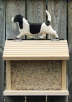 Basset Hound Bird Feeder-Black/White