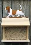 Beagle Bird Feeder-Red/White