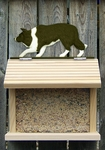 Border Collie Bird Feeder-Black