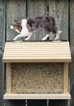 Border Collie Bird Feeder-Blue Merle