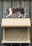 Border Collie Bird Feeder-Red Merle