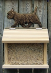 Cairn Terrier Bird Feeder-Black Brindle