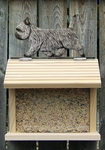 Cairn Terrier Bird Feeder-Light Grey