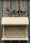 Dachshund (long hair) Bird Feeder-Blue Dapple