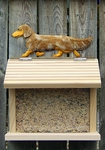 Dachshund (long hair) Bird Feeder-Red Dapple
