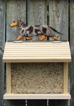 Dachshund (smooth) Bird Feeder-Blue Dapple
