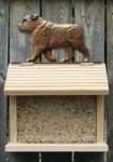 English Bulldog Bird Feeder-Brindle