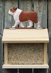 English Bulldog Bird Feeder-Red