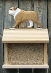 English Bulldog Bird Feeder-Tan