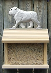 English Bulldog Bird Feeder-White