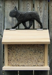 French Bulldog Bird Feeder-Black Brindle