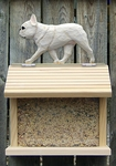 French Bulldog Bird Feeder-Cream
