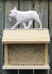 French Bulldog Bird Feeder-White