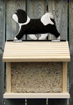 Havanese Bird Feeder-Black/White