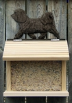 Havanese Bird Feeder-Dark Grey