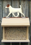 Jack Russell Terrier Bird Feeder-Brown/White