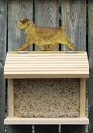 Norfolk Terrier Bird Feeder-Grizzle
