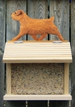 Norfolk Terrier Bird Feeder-Red