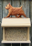 Norwich Terrier Bird Feeder-Red