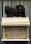 Pekingese Bird Feeder-Black