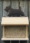 Scottish Terrier Bird Feeder-Black