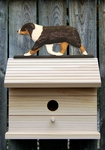 Australian Shepherd Bird House-Black Tri