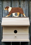 Australian Shepherd Bird House-Red Tri