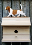 Basset Hound Bird House-Red/White