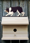 Border Collie Bird House-Black Tri