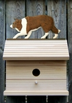 Border Collie Bird House-Red