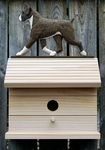 Boxer (natural) Bird House-Brindle