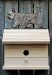 Cairn Terrier Bird House-Light Grey