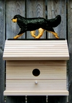 Cavalier King Charles Spaniel Bird House- Black & Tan