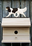 Cavalier King Charles Spaniel Bird House-Black Tri