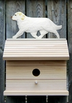 Clumber Spaniel Bird House-Lemon