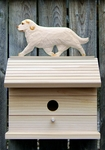 Clumber Spaniel Bird House-Orange