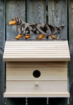 Dachshund (long hair) Bird House-Blue Dapple
