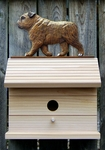 English Bulldog Bird House-Brindle