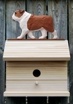 English Bulldog Bird House-Red