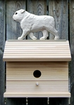 English Bulldog Bird House-White