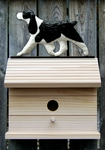 English Springer Spaniel Bird House-Black
