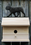 French Bulldog Bird House-Black Brindle