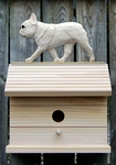 French Bulldog Bird House-Cream