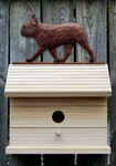French Bulldog Bird House-Red Brindle