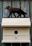 German Shepherd Bird House-Black