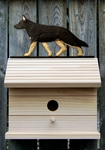 German Shepherd Bird House-Black w/ Tan Points